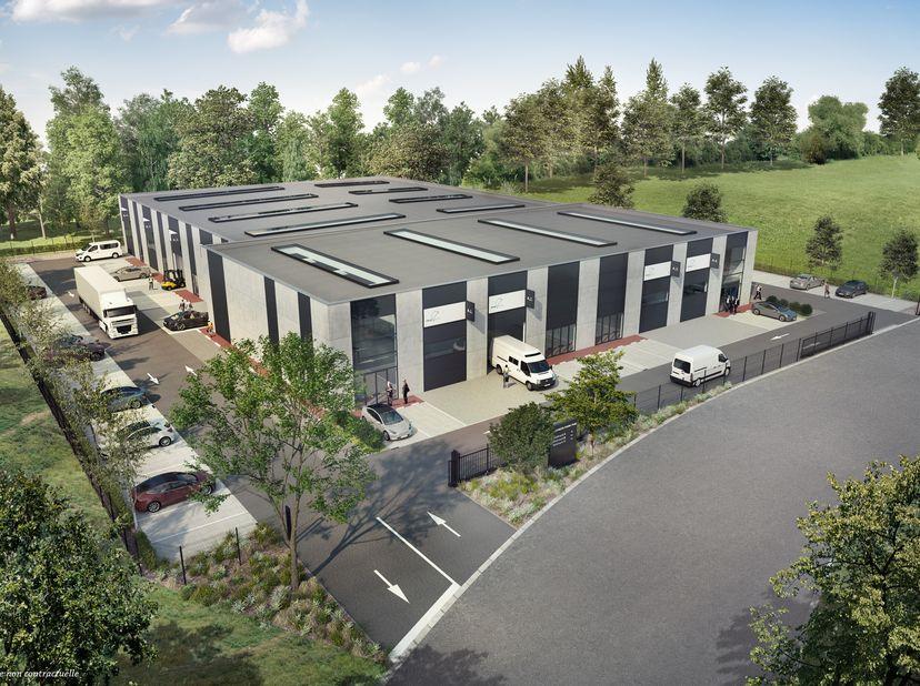BUSINESS PARK MONS<br /> Dans le nouveau zoning « Puits 28 » à proximité du centre de Mons et des accès autoroutiers, PME UNIT construit le premier bu
