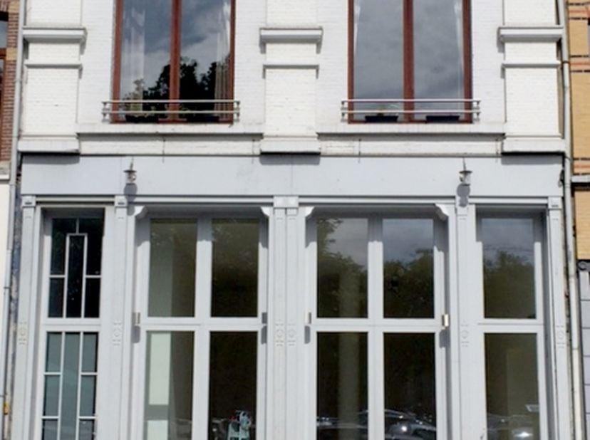 Een heel licht gezellig duplex appartement met groot ingesloten terras in een gerenoveerd gebouw op het Zuid. Waalse Kaai met uitzicht op de gedempte
