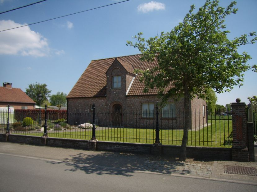 landelijke vrijstaande woning Kronemolenstraat 29a te 8210 Veldegem , 5 kamers , ki 1200 , grond 845 m² , woon opp 300 m² , wijnkelder , kleine loods