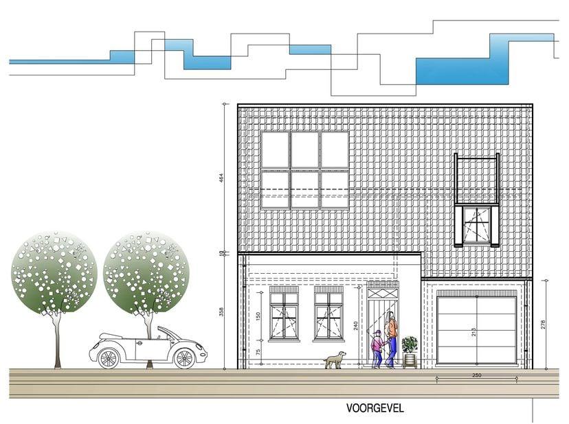 Landelijke woning op een stuk grond van 352 m².<br /> <br /> Gelijkvloers: inkom, wc, ruime leefruimte met eetplaats, salon en keuken, garage.<br