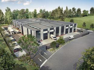 """BEDRIJFS PARK BERGEN<br /> In de nieuwe zone """"Puits 28"""" nabij het centrum van Bergen en de toegang tot de snelweg, bouwt PME UNIT het eerste bedrijven"""