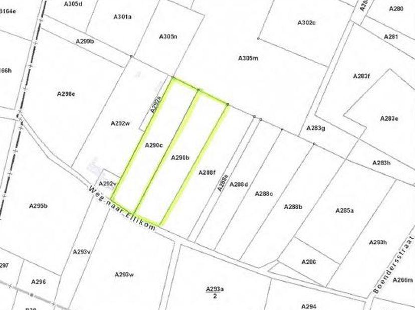2 percelen landbouwgrond met een totale oppervlakte van 93a 20ca gelegen te Oudsbergen, Ellikom, goed bereikbaar en vrij van pacht.