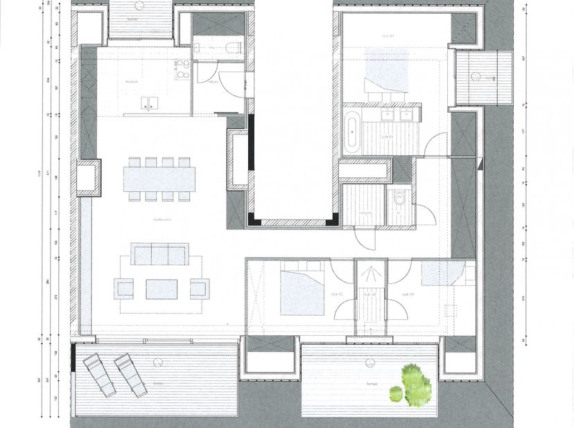 Domein Berckendael<br /> 3 Slaapkamer-appartement en 2 badkamers<br /> 4 Terrassen samen 60m²<br /> Ruime living met volledig ingerichte keuken ( Miel
