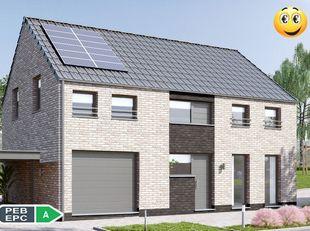 Projet de villa Qzen à consommation d'énergie quasi nulle 100% traditionnelle k30 PEB A (triple vitrage,panneaux solaires photovolta&ium