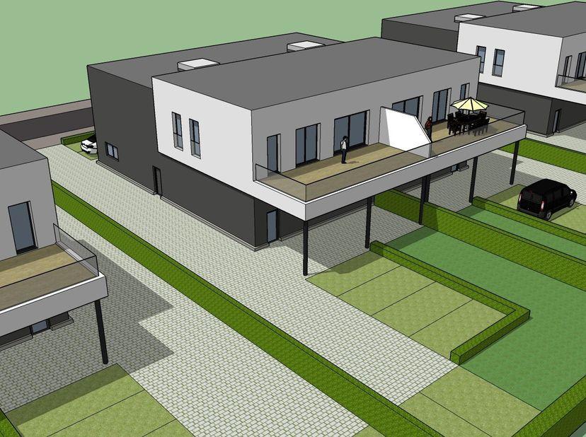 KMO unit 200 m2 met appartement 100 m2<br /> Terras 45 m2 met zicht op kanaal.<br /> Wind en waterdicht, buitenaanleg af, omheind, nutsvoorzieningen z