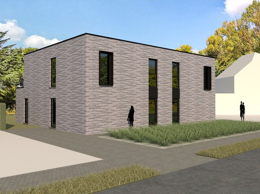 Moderne nieuwbouwwoning met gelijmde gevelsteen te koop, gezet in eigen beheer, waar kwaliteit primeert. Deze woningen staan te koop als casco+, maar