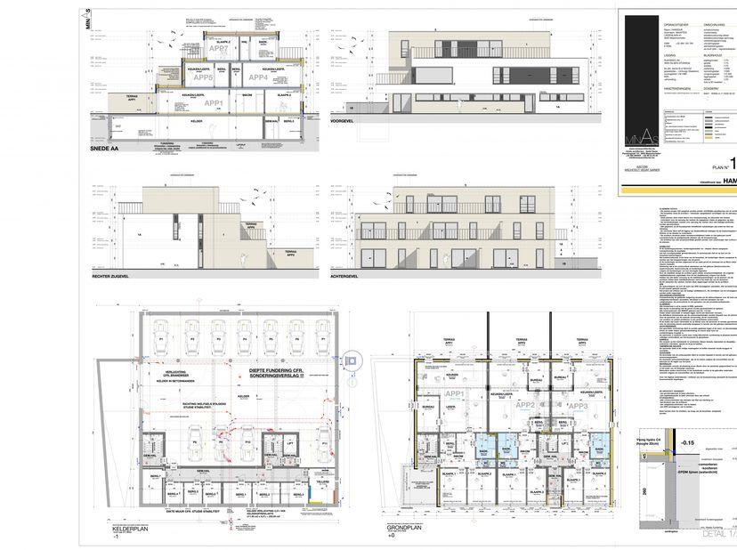 Project van 7 appartementen met goedgekeurd plan en de nodige vergunningen.<br /> Stabiliteitsstudie en EPB verslag zijn al gemaakt.<br /> Perceel hee