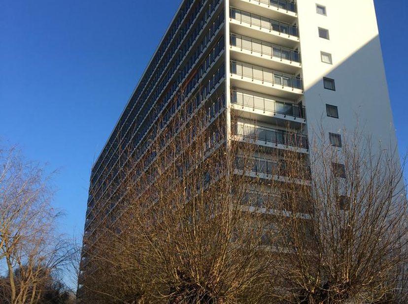 Ruim appartement met 4 slaapkamers en mooi panoramisch zicht voor- en achterkant.<br /> <br /> <br /> Appartement (206 m2) op 9 de verdiep. Grote inko
