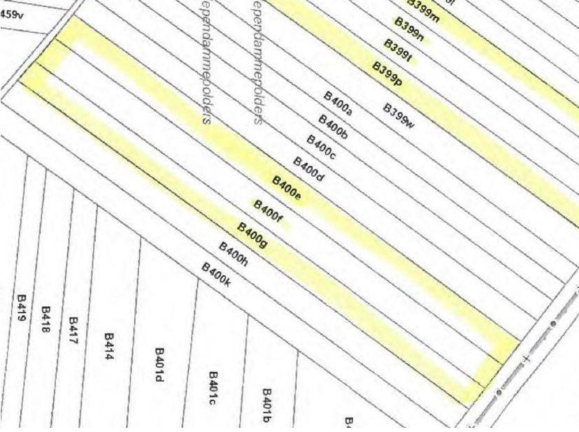 BIDDIT<br /> BLOK LAND<br /> Koop 2: BLOK LAND<br /> Kadastraal bekend, sectie B, nrs 400E P0000; 400F P0000 en 400G P0000, opp: 1ha 46a 90ca. KI euro