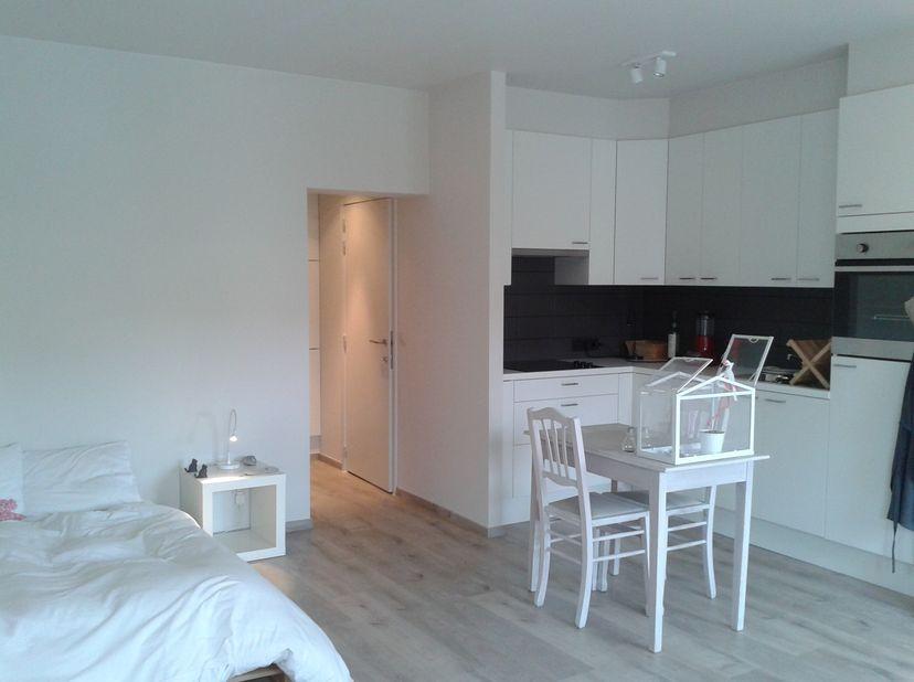 Lichtrijke studio te huur op toplocatie centrum Gent. <br /> <br /> Volledig gerenoveerd, modern ingericht met oog voor detail en energiezuinige ( EPC