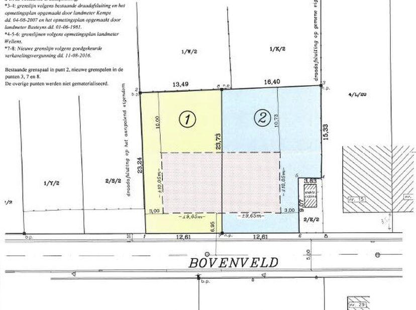 Gemeente Holsbeek - eerste afdeling: Een perceel bouwgrond voor halfopen bebouwing, gelegen Bovenveld, thans ten kadaster gekend sectie F deel van per